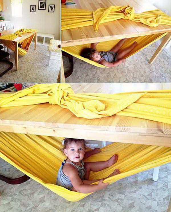 DIY Safe Hammock Indoor.