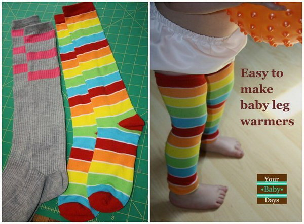 DIY Baby Leg Warmers.