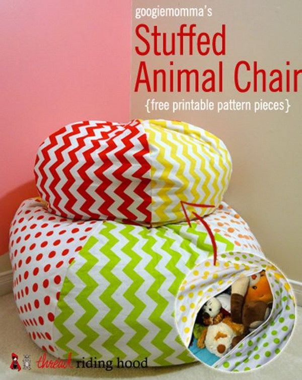 Store Stuffed Animals in a Bean Bag Cover.