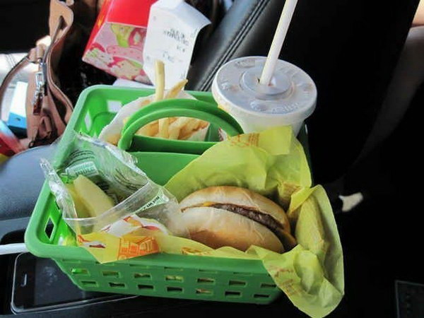 Use a Shower Caddy when Eating In The Car.