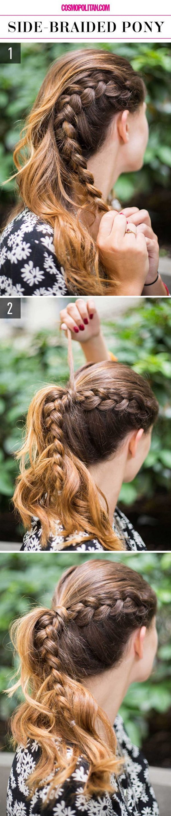 Easy Messy Braided Ponytail Tutorial