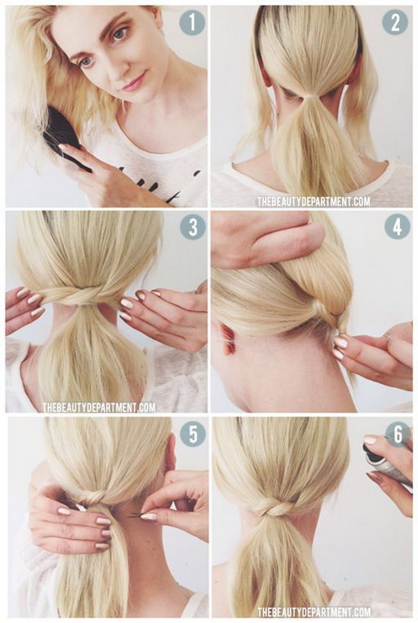 Short Hair Ponytail Tutorial