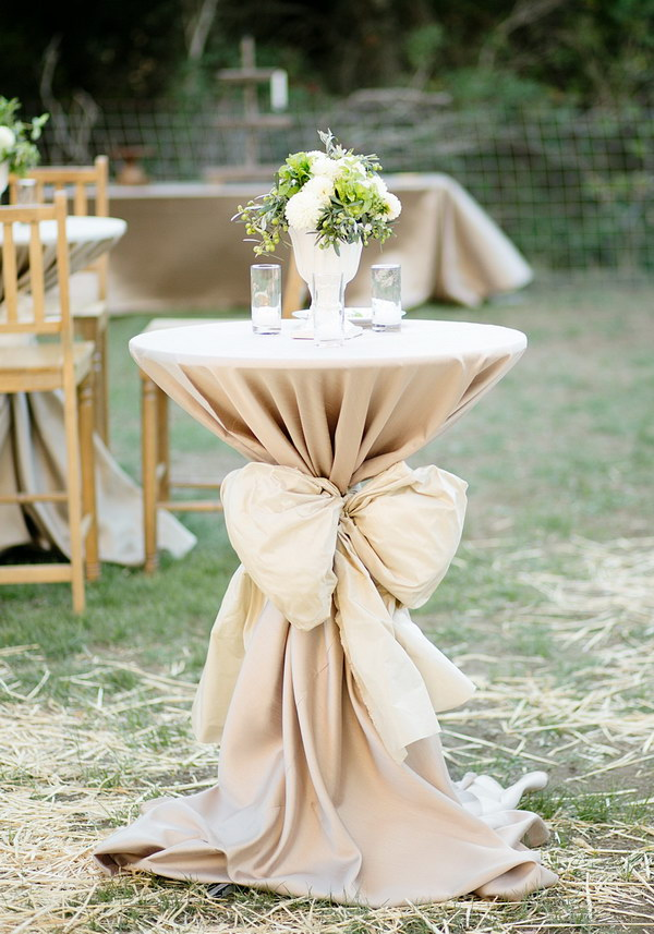 Cocktail Table Decorations Ideas cocktail tables Cocktail Table Decor With A Big Bow