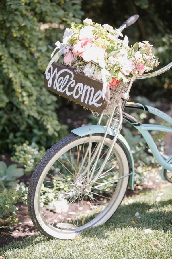 Vintage Bicycle Wedding Sign