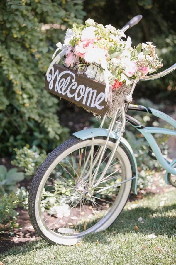 Vintage Bicycle Wedding Sign