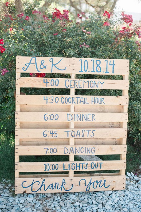 Simple Pallet Rustic Wedding Sign