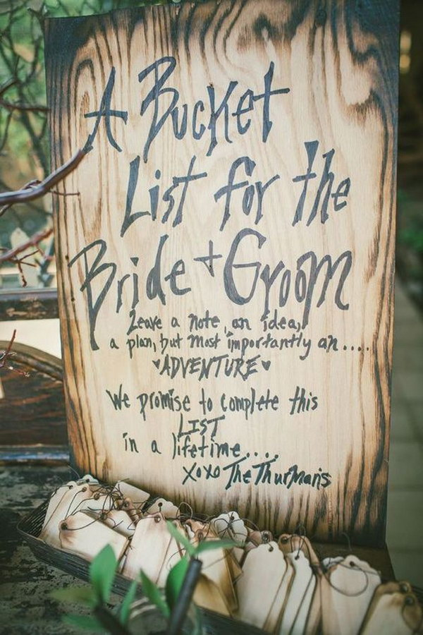 Wood Burning Wedding Guest Book