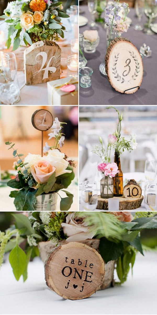 Rustic Woodwork Table Numbers
