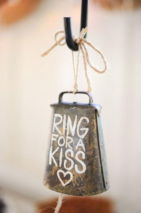 Wedding Bell Decor for Rustic Barn Wedding