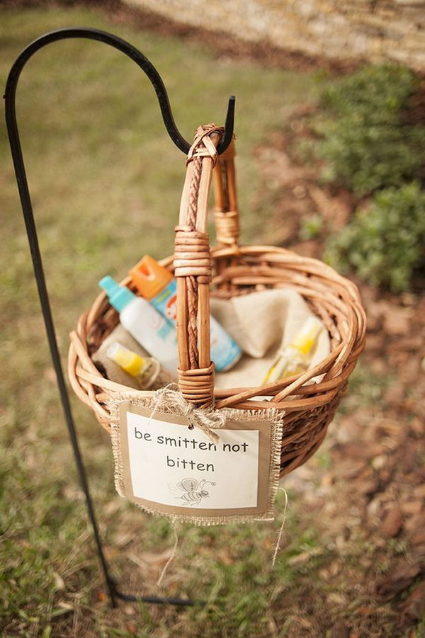 'Be Smitten Not Bitten' Bug Spray for Guests