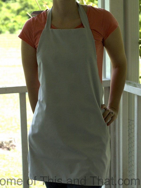Easy DIY Reversible Apron Pattern