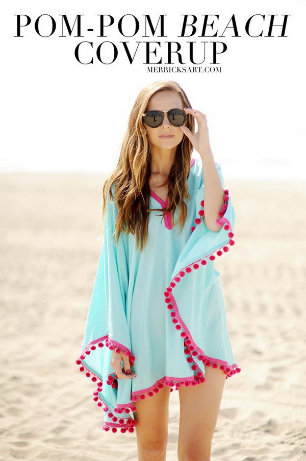 Beautiful Pompom Swimsuit Coverup