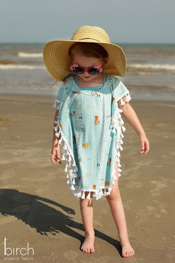 Easy DIY Swim Coverup  for Little Girls