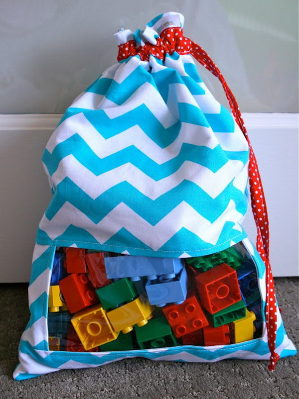 DIY Peek A Boo Toy Sacks.