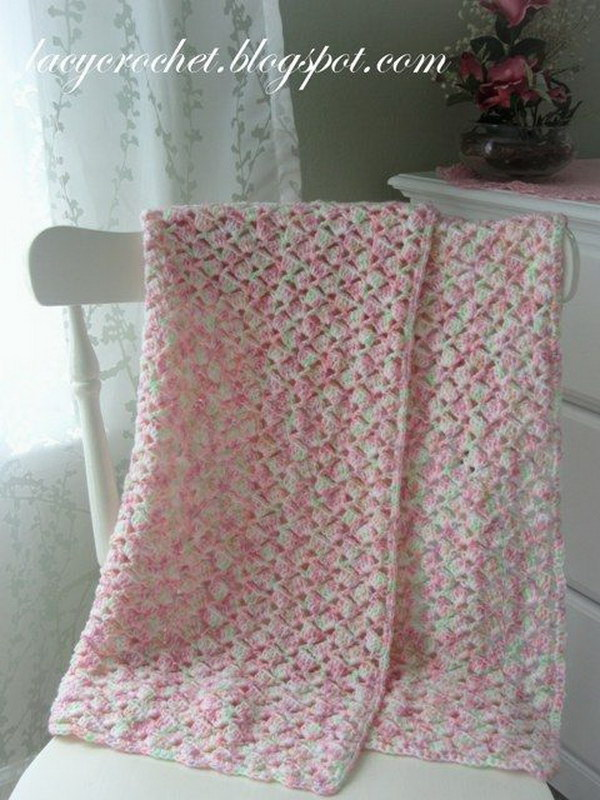 Lady Windsor Lace Crochet Blanket.