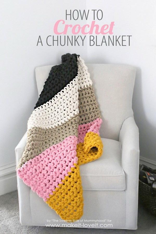 DIY Vintage Crochet Daisy Motif Blanket.
