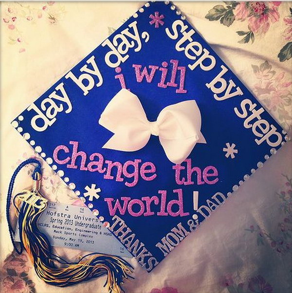 Positive Saying Graduation Cap