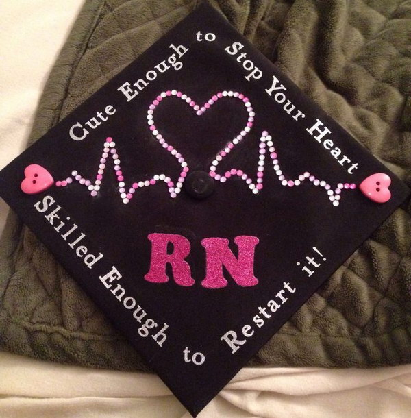 Cute Nursing School Graduation Cap Decorating