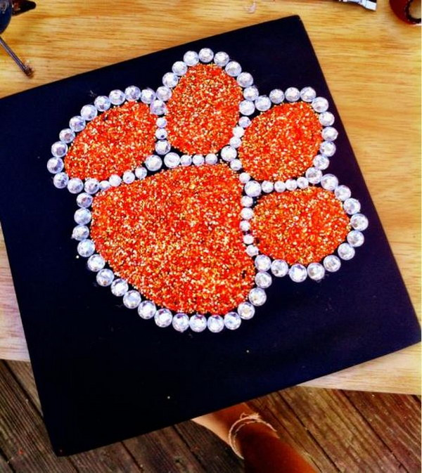 A Graduation Cap Expressing Tiger Pride