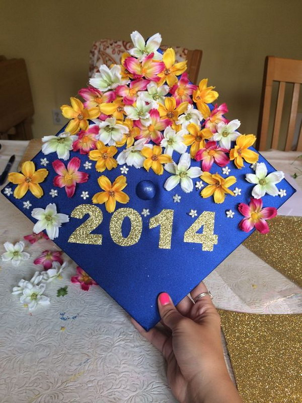 Blooming Flowers Beautiful Graduation Cap