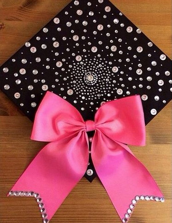 Sparkly Decorated Graduation Cap