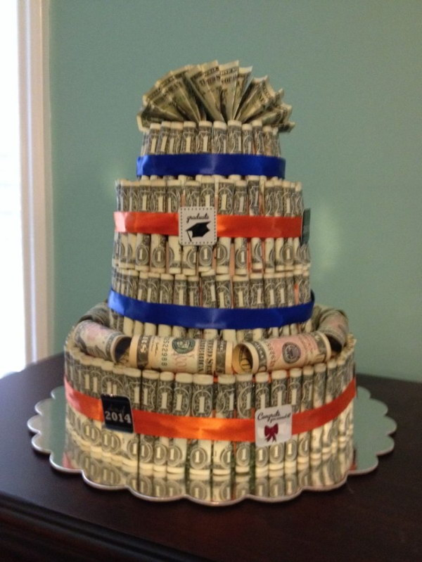DIY Money Cake.