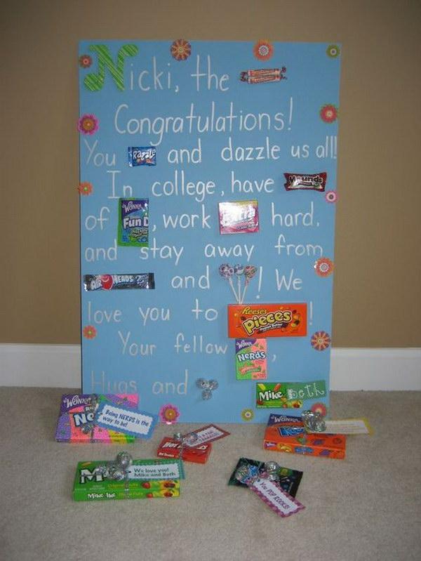 Candygram Graduation Poster Card.