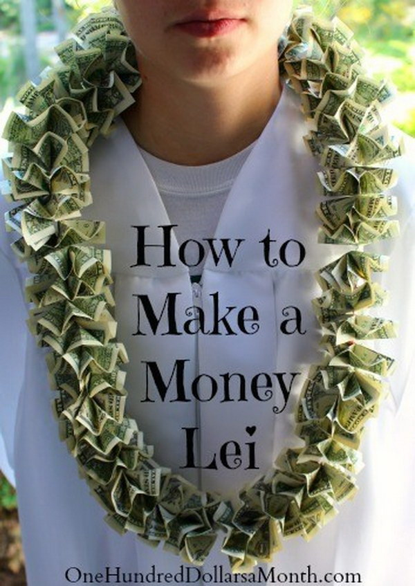 Graduation Gift Ideas – DIY Money Leis.