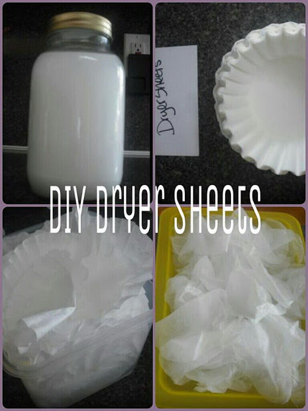DIY Dryer Sheets Using Coffee Filters.