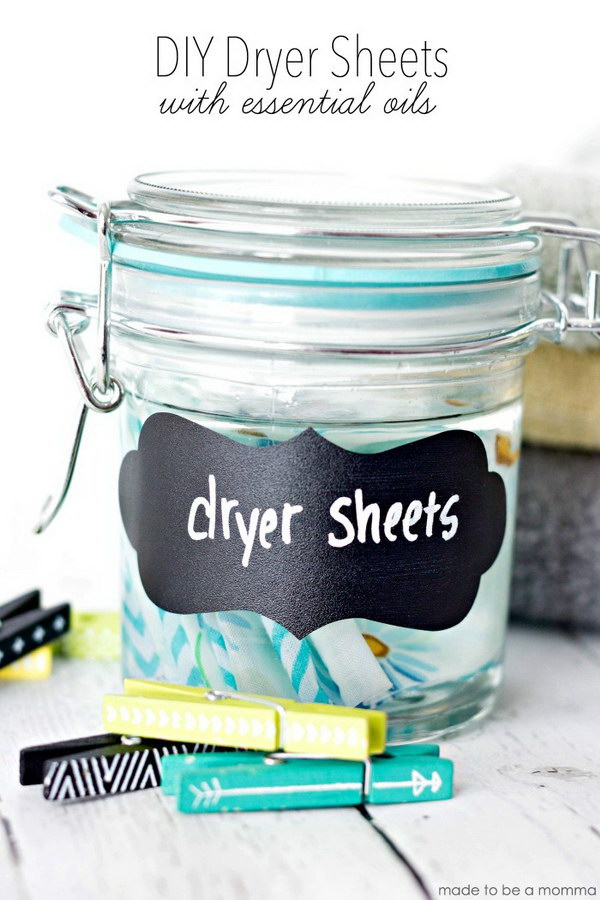 DIY Dryer Sheets with Essential Oils.