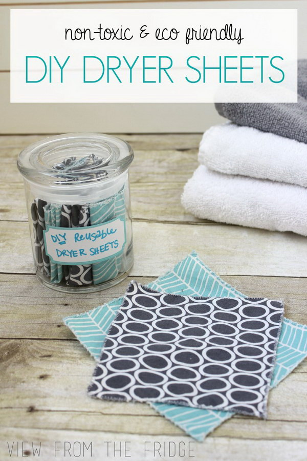 Homemade Non toxic Dryer Sheets.