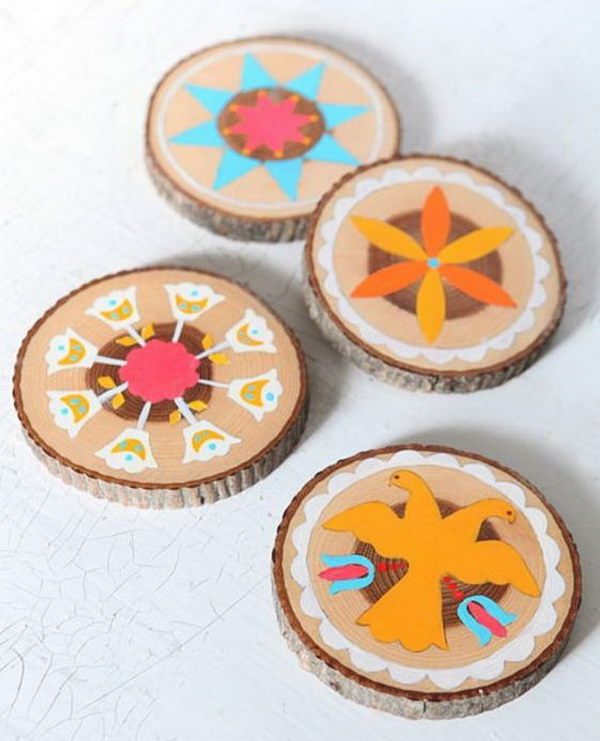 DIY Wood Slice Coasters