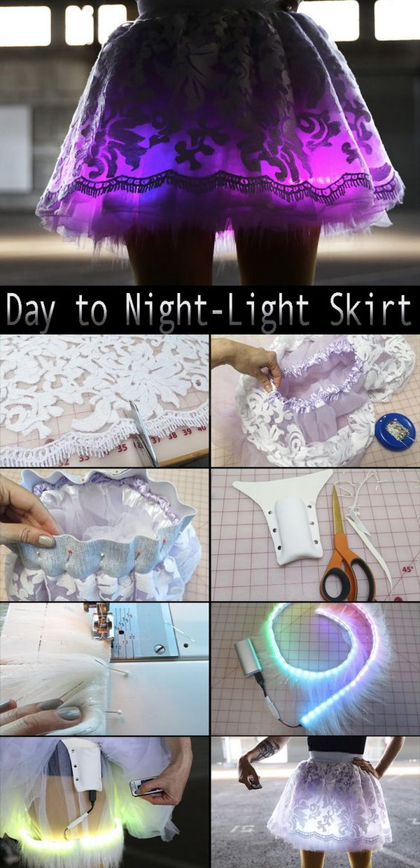 DIY Day to Night Light Skirt