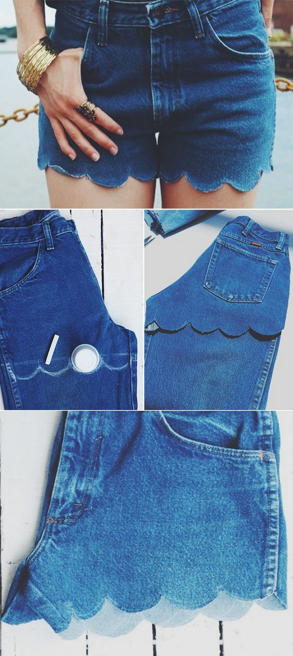 DIY Shorts Out Of Jeans