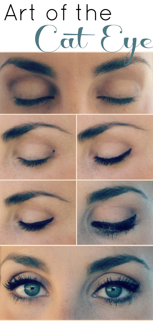 Dotted technique for eyeliner makeup.