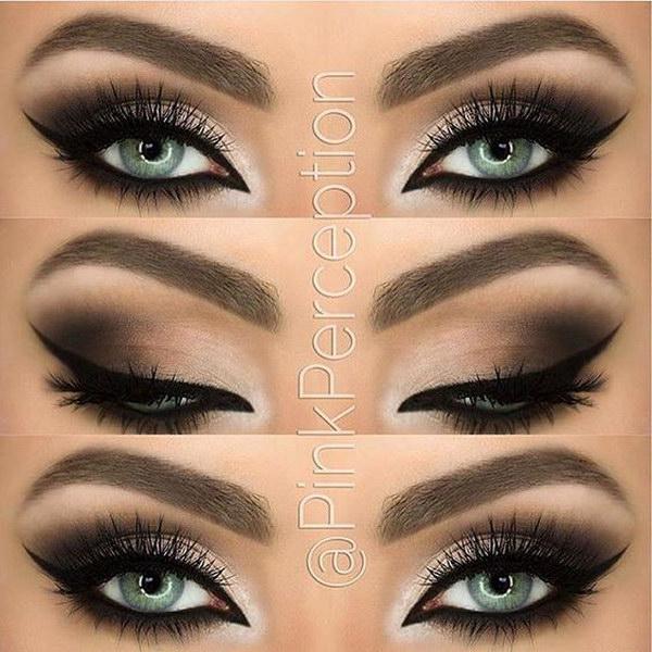 Dramatic eyeliner makeup.