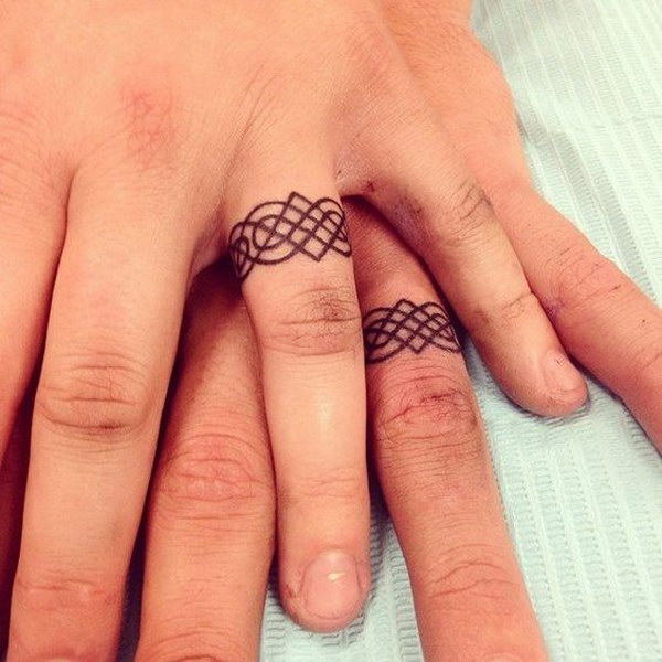f7e66580a 40+ Sweet & Meaningful Wedding Ring Tattoos