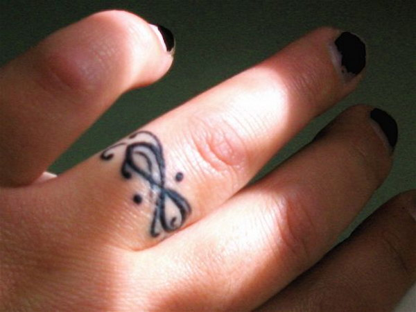 lovely infinity tattoo for girls