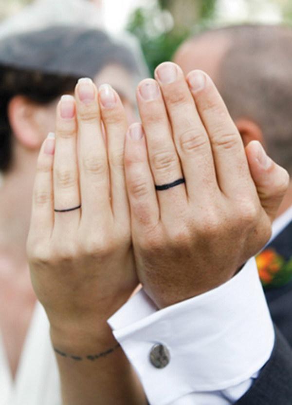 Simple Wedding Band Tattoos.