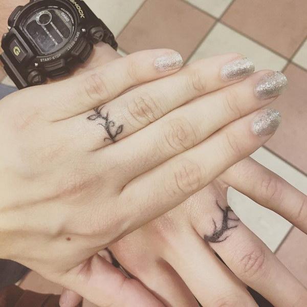 Vine Wedding Band Tattoo.