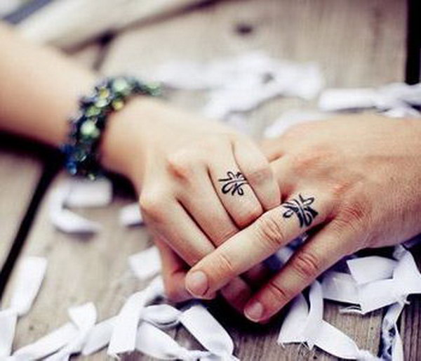 40 Sweet Meaningful Wedding Ring Tattoos