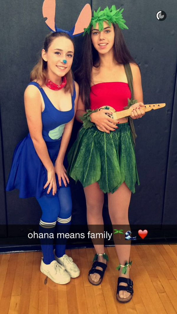 disney lilo and stich diy halloween costumes - Best Friends Halloween Ideas