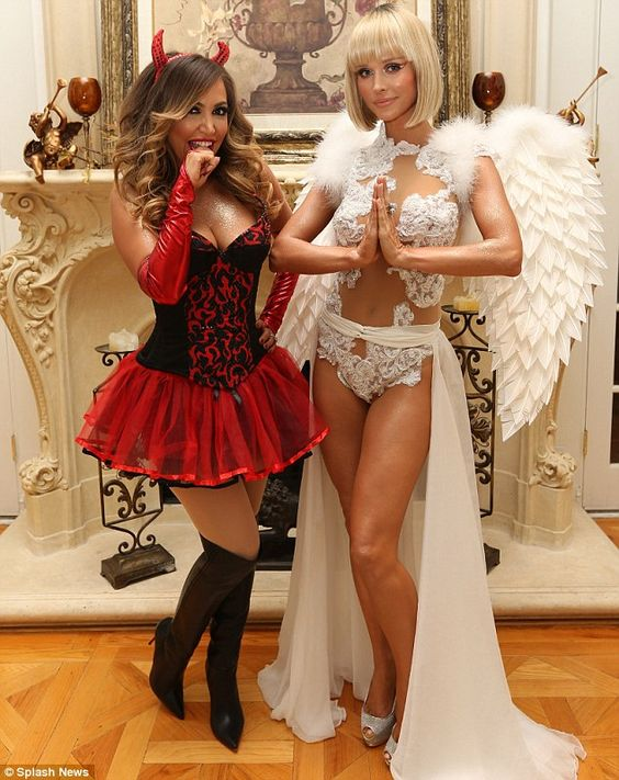 Angel and Devil Halloween Costume.