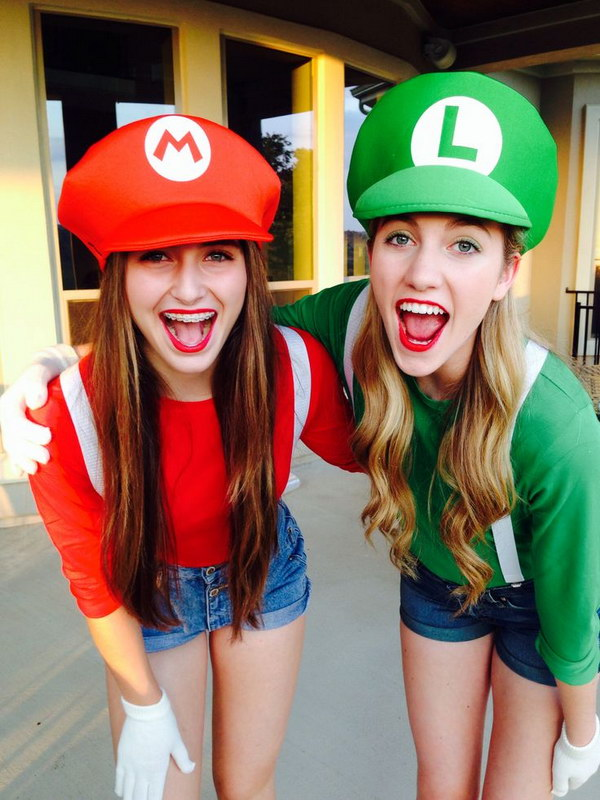 Mario and Luigi Halloween Costumes.