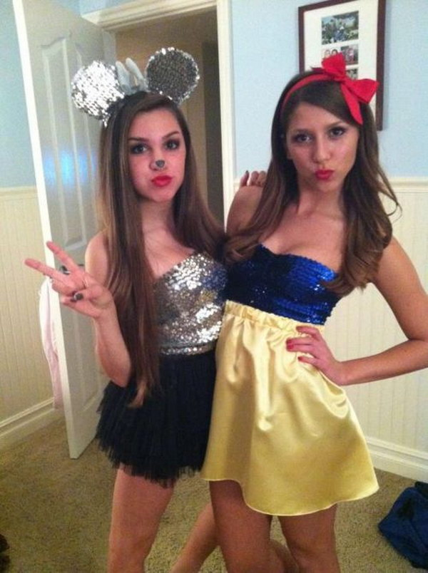 20 best friend halloween costumes for girls for Cute homemade halloween costumes for girls