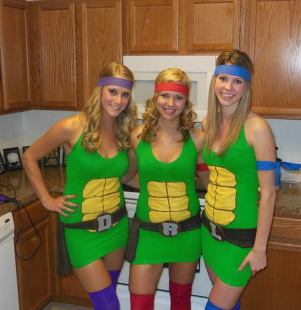 Ninja Turtles Best Friend Costumes  sc 1 st  Styletic & 20+ Best Friend Halloween Costumes for Girls