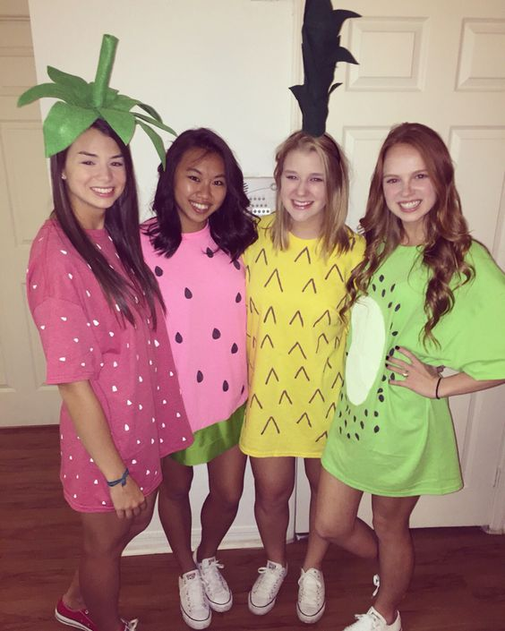 Easy Fruit Costumes for Halloween.