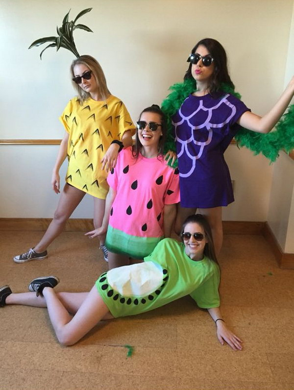 Easy Fruit Costumes for Halloween  sc 1 st  Styletic & 20+ Best Friend Halloween Costumes for Girls