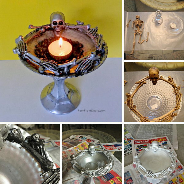 Easy DIY Skeleton Dish.