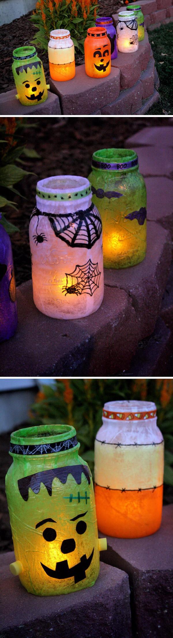Cute Halloween Lanterns.